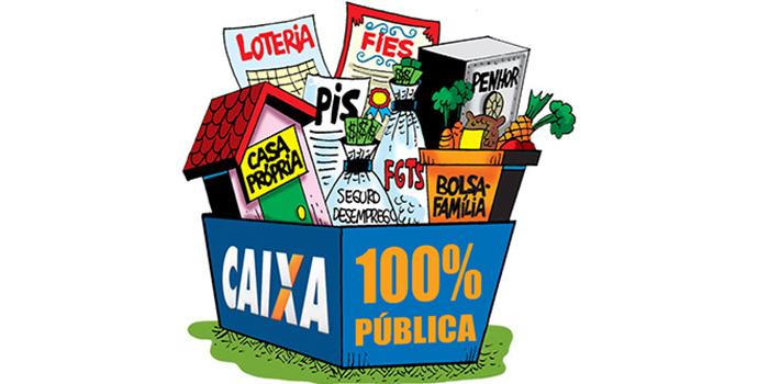 Não à Privatização. Caixa 100% Pública