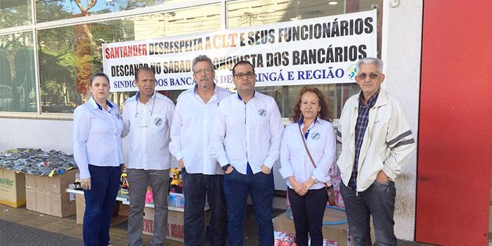 Sindicato Mantém Protesto Contra Abertura De Agência Do Santander Aos Sábados