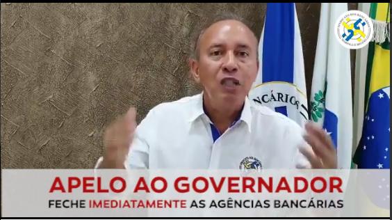 PEDIDO AO GOVERNADOR PARA FECHAMENTO DOS BANCOS NO PR