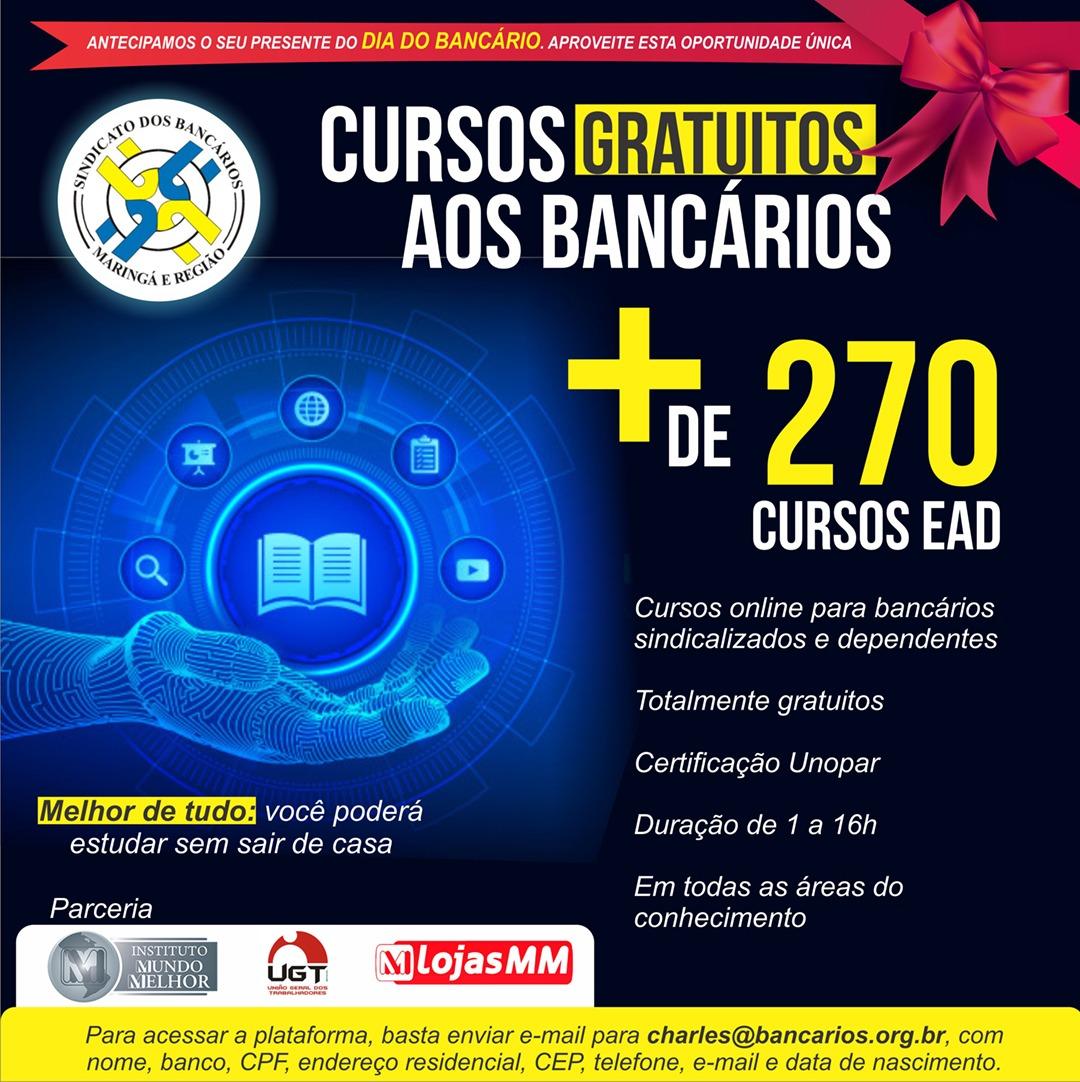 Conquista Inédita: Sindicato Disponibiliza Mais De 270 Cursos Gratuitos Via EAD