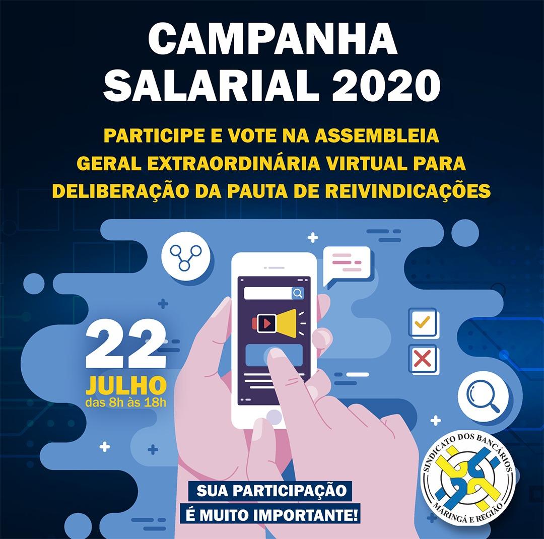 CAMPANHA SALARIAL 2020: EDITAL DE CONVOCAÇÃO DOS EMPREGADOS DO BB, CAIXA E BANCOS PRIVADOS