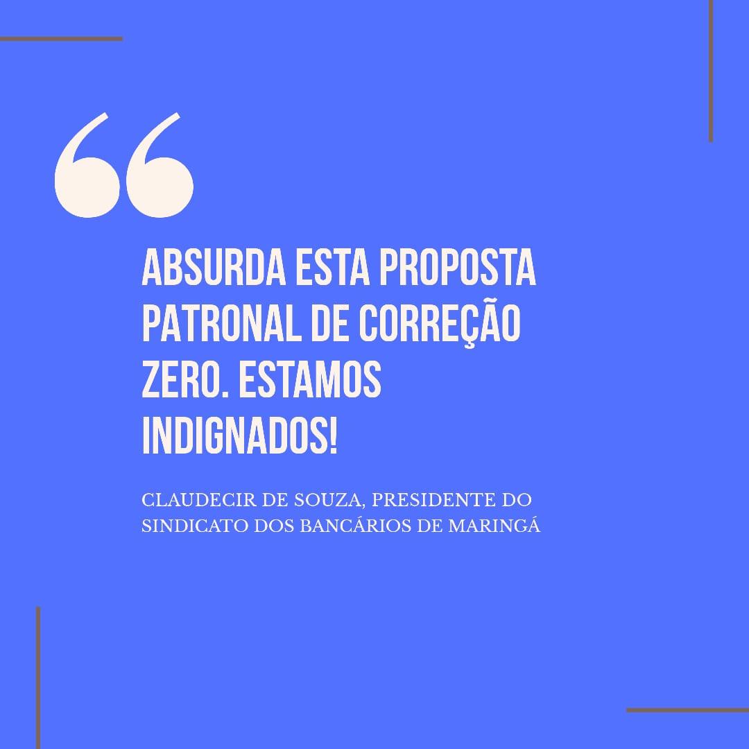 ABSURDA, INACEITÁVEL PROPOSTA DE CORREÇÃO ZERO DA FENABAN