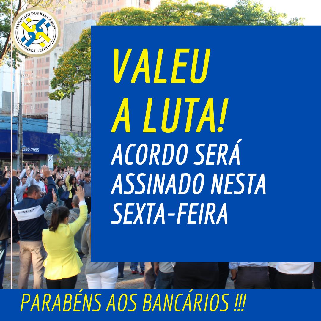 ACORDO COM A FENABAN SERÁ ASSINADO NESTA SEXTA-FEIRA