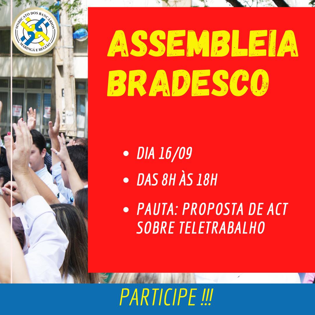 Assembleia Online Para Funcionários Do Bradesco, Nesta Quarta, Sobre Acordo De Teletrabalho