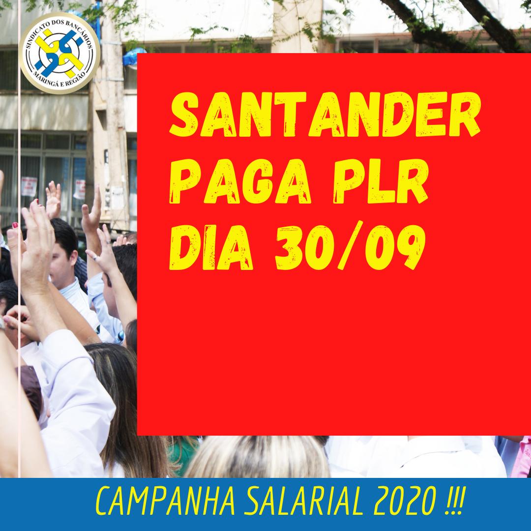 Santander Paga PLR Dia 30 De Setembro